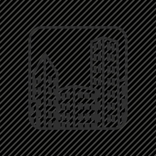 Building, city, city view, cityscape, emoji, office, skyscraper icon - Download on Iconfinder
