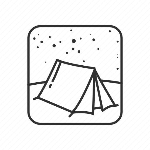 camping, emoji, night, night view, outdoor, outdoors, tent icon