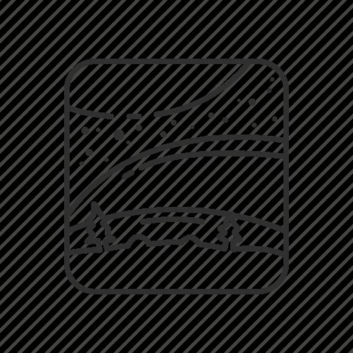 Emoji, evening, milky way, moon, night, night view, wild icon - Download on Iconfinder