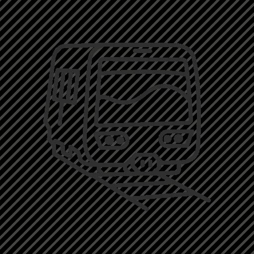 Emoji, railway, train, tram, tramway, transportation, travel icon - Download on Iconfinder