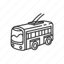 bus, emoji, transportation, travel, trolley bus, trolleybus, vehicle icon