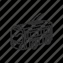 bus, emoji, transportation, travel, trolley bus, trolleybus, vehicle
