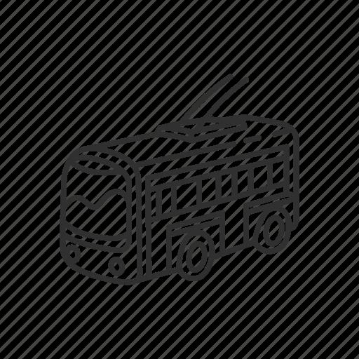 bus, emoji, transportation, travel, trolley bus, trolleybus, vehicle icon