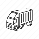 car, deliver, delivery truck, emoji, shipping, truck, vehicle icon