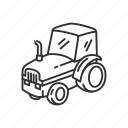 agriculture, emoji, farm, tarm tractor, tractor, transportation, vehicle icon