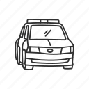 car, cop, emoji, police, police car, security, vehicle icon