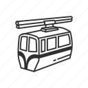cable car, car, emoji, mountain, mountain cablecar, transportation, travel icon