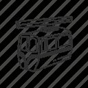 cable car, car, emoji, mountain, mountain cablecar, transportation, travel