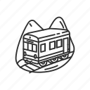 emoji, mountain, mountain railway, railway, train, transportation, travel