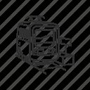 emoji, railway, subway, tansportation, train, tram, transport