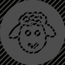 agritourism, animal, animals, pet, sheep icon