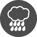 cloud, clouds, cloudy, forecast, rain, storm, weather icon