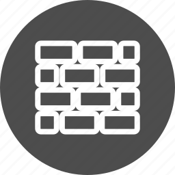 brick, bricks, building, closed, firewall, wall icon