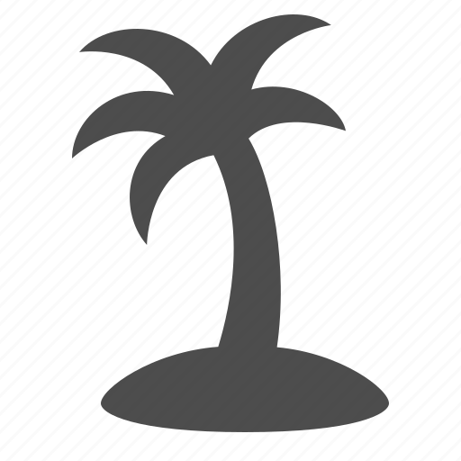exotic, island, palm tree, tourism, travel, vacation icon
