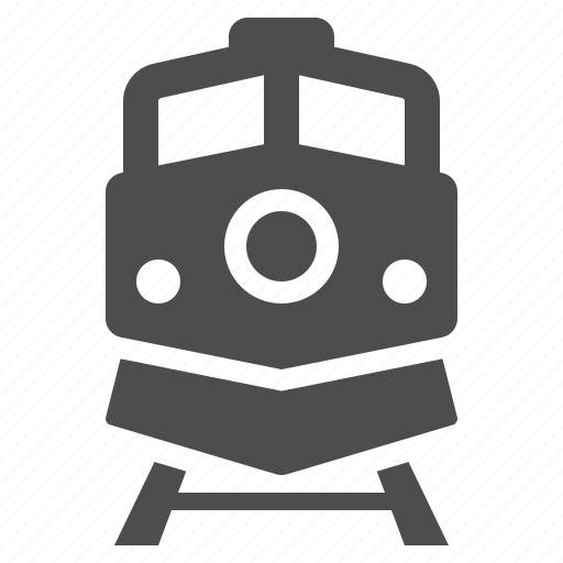 locomotive, rail road, railway, train, transportation, travel icon