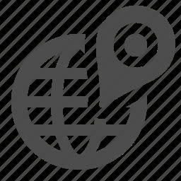 destination, globe, gps, location, marker, travel icon