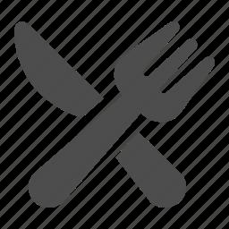 dinner, eating, fork, knife, restaurant icon