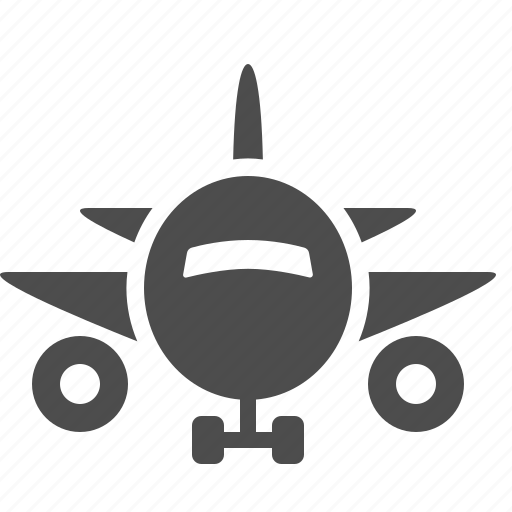 airplane, engines, landing gear, plane, wings icon