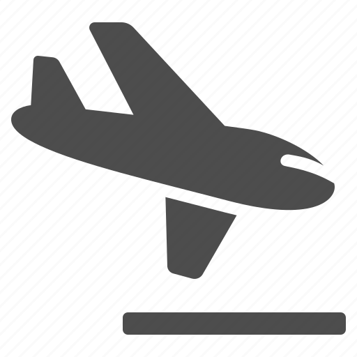airplane, airport, flying, landing, plane, runway, travel icon