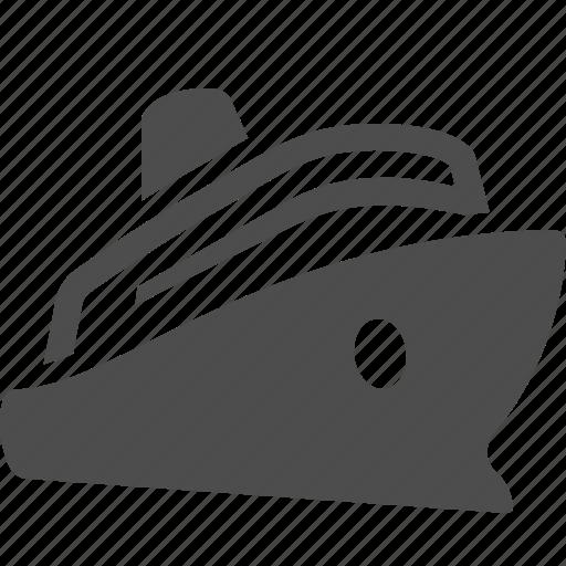 Cruise Ship Sailing Sea Transportation Travel Icon