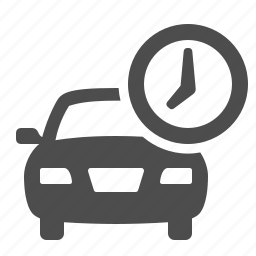 auto, car, clock, on time, transport, transportation, vehicle icon