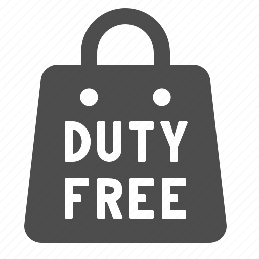 airport, duty free, shopping bag, tax free icon