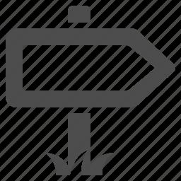 destination, direction, navigation, road sign, sign icon