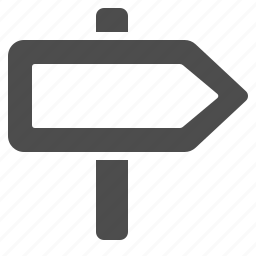 direction, navigation, road, road sign, sign icon