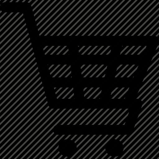 go-cart, handcart, pushcart, pushchair, shopping trolley, stroller, trolley icon