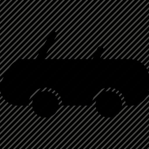 cabrio, cabriolet, car, convertible, drop top, spider car icon