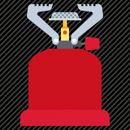 burner, camp, gas, travel icon
