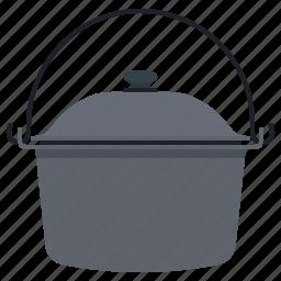 camp, cauldron, cooking, travel icon