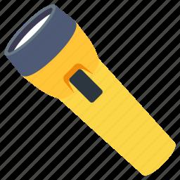 electric, flashlight, pocket, travel icon