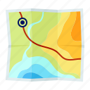 location, map, navigation, travel icon