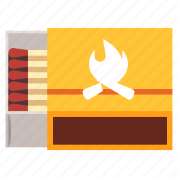 box, matches, matchstick, travel icon