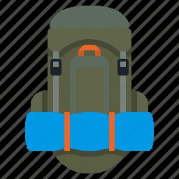 backpack, bag, rucksack, travel icon