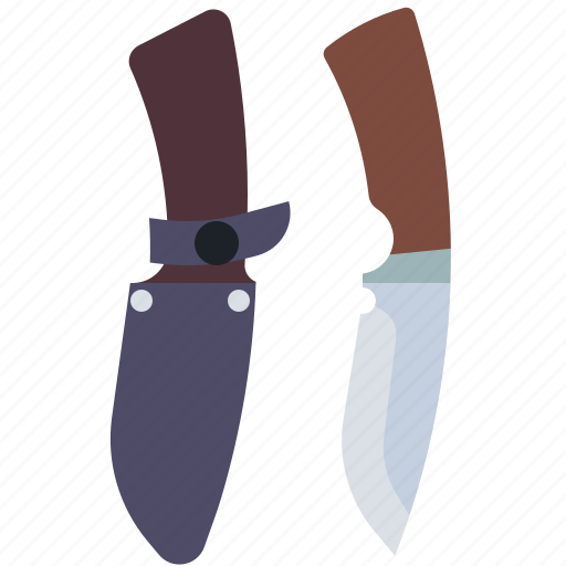 camping, hunting, knife, travel icon