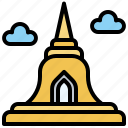 and, architecture, city, landmark, monument, pagoda, thailand