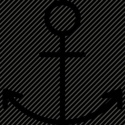 anchor, boat, marine, sea, ship icon