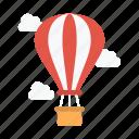 airballoon, fly, summer, tour, travel icon