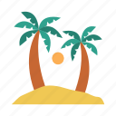 beach, palm, summer, tourism, tree icon