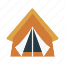 camp, outdoor, tent, tour, vacation icon