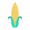 corn, crop, food, maize, vegetable icon