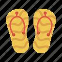 flipflop, footwear, slipper, summer, tourism icon