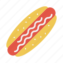 eat, fastfood, hotdogs, meal, tourism icon