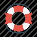 lifeguard, lifetube, protection, safety, swimming icon