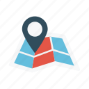 gps, location, map, marker, pin icon