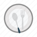 fork, hotel, plate, restaurant, spoon icon