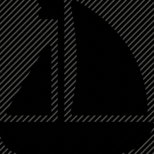 boat, sailboat, sea, ship, transport icon