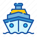 cruise, holiday, ship, tourism, transportation, travel, vacation icon